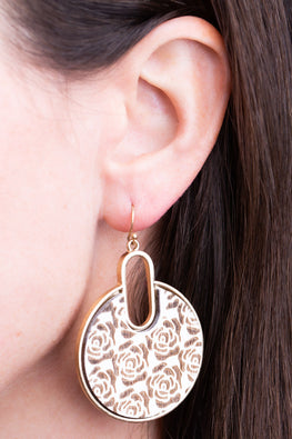 Type 1 Winter Roses Earrings