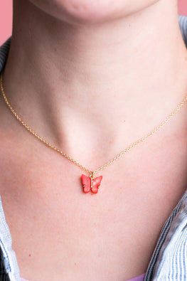 Type 1 Butterfly Kisses Necklace