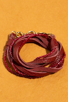 Type 3 Burgundy Bands Bracelet