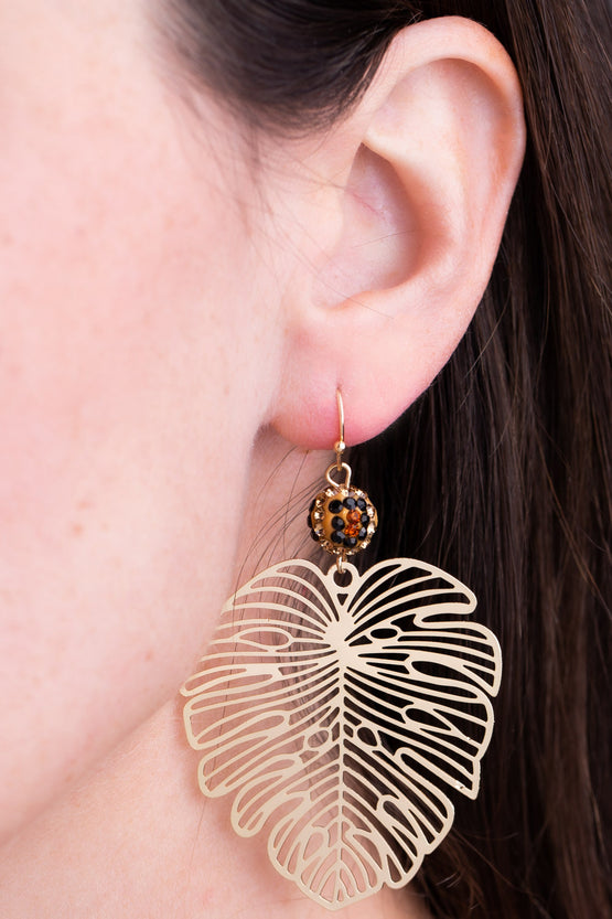 Type 3 Palm Fronds Earrings