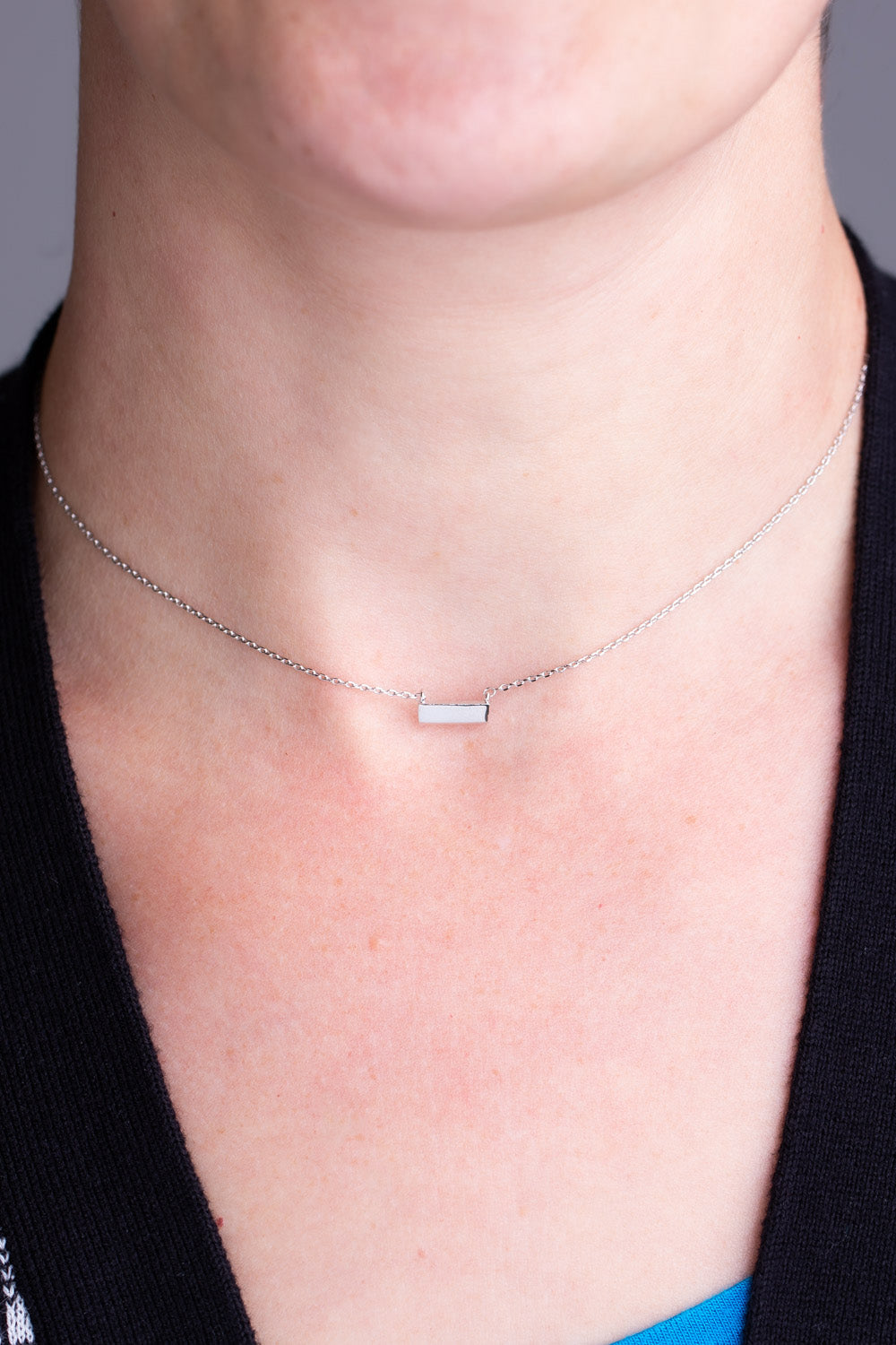 Type 4 Silver Stone Necklace