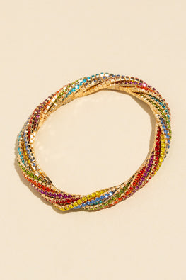 Type 1 Twisted Rainbow Bracelet