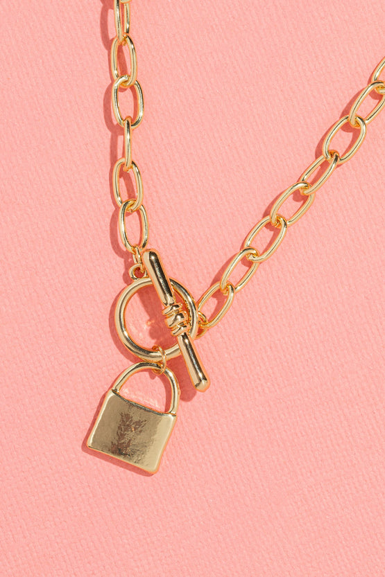 Type 3 Goals Locked In Necklace