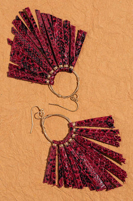 Type 3 Flaming Red Earrings