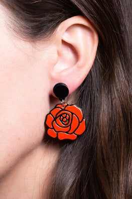Type 4 Roses Red Earrings