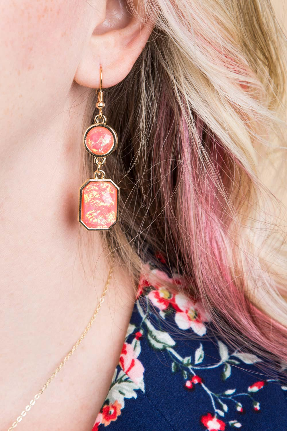 Type 1 Pink Enchantment Earrings