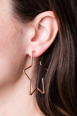 Type 1 Starrific Rose Gold Earrings