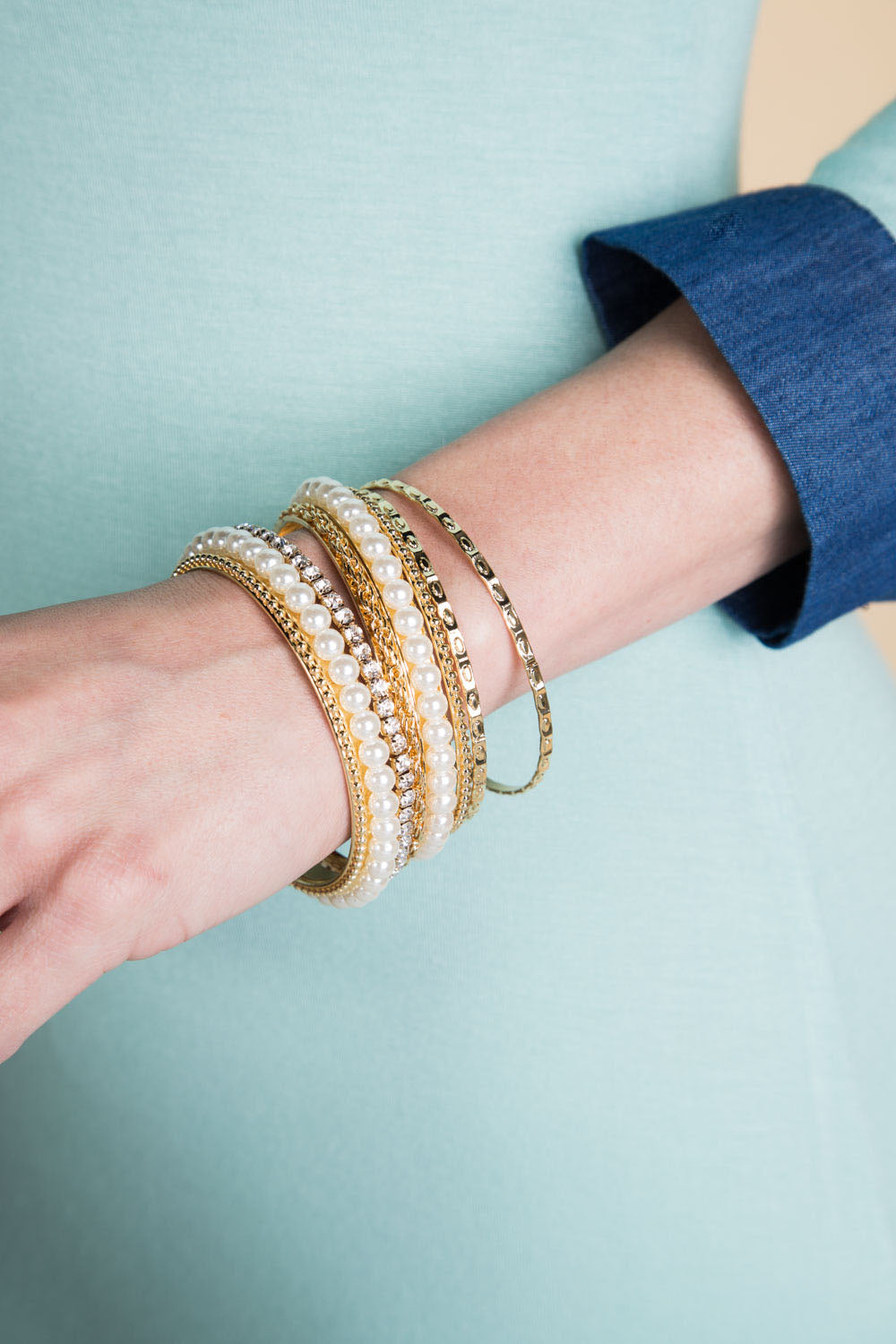Type 1 Pearl and Whirl Bangles