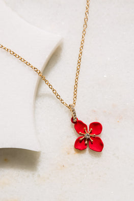 Type 1 Crimson Rose Necklace