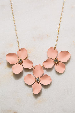 Type 1 Peach Bloom Necklace