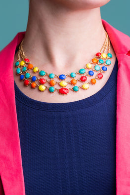 Type 1 Rainbow Royal Necklace/Earring Set