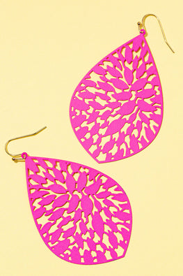 Type 1 Flowering Fuchsia Earrings