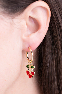 Type 1 Cheery Cherry Earrings
