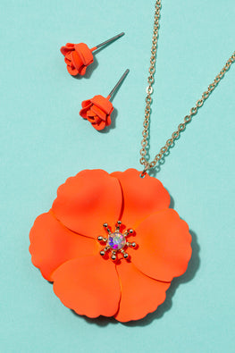 Type 1 Coral Cute Necklace/Earring Set
