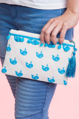 Type 1 Whale, Whale Cosmetic Bag