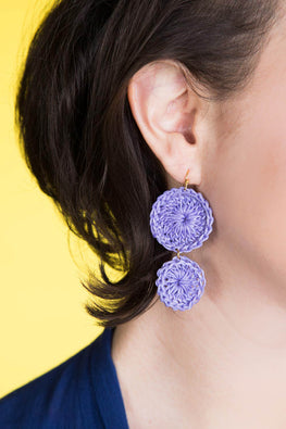 Type 1 Purple Pop Earrings