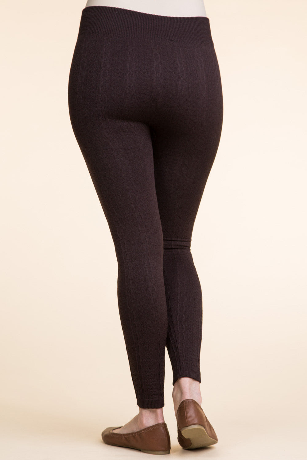 Type 1 Plus Size, Cable Ties Leggings