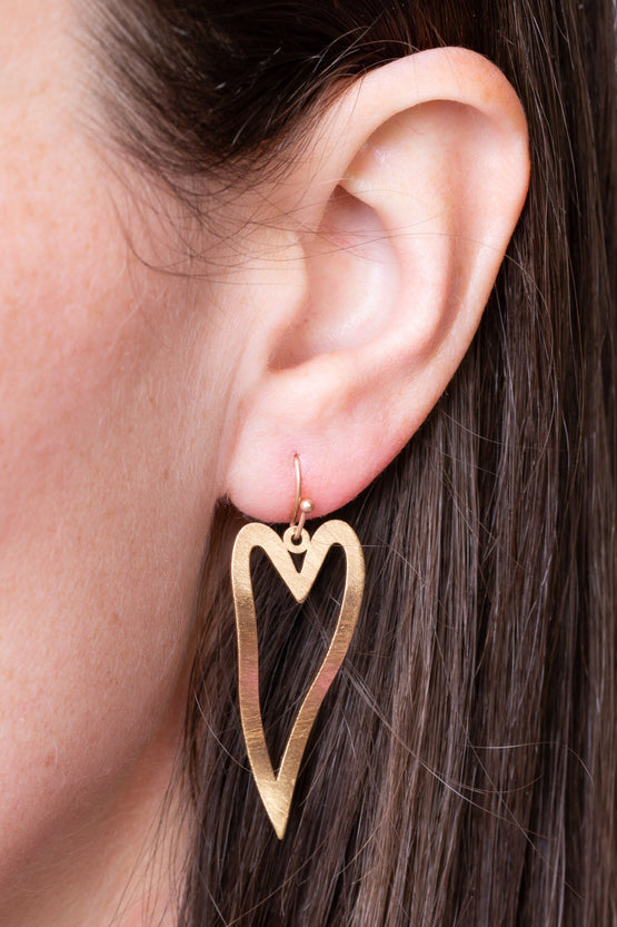 Type 1 Etched On My Heart Earrings