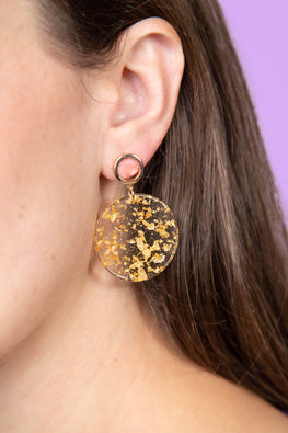 Type 1 Speckled gold Earrings