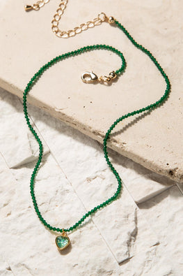 Type 1 Keen in Green Necklace