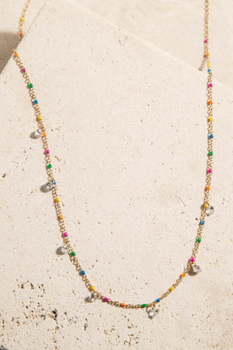 Type 1 Rainbow Droplets Necklace