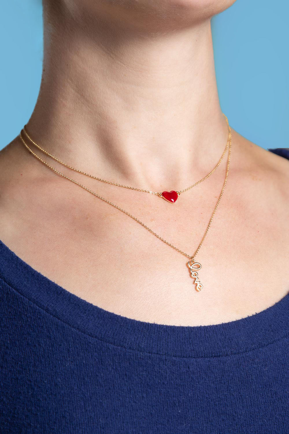 Type 1 Hearts & Love Necklace