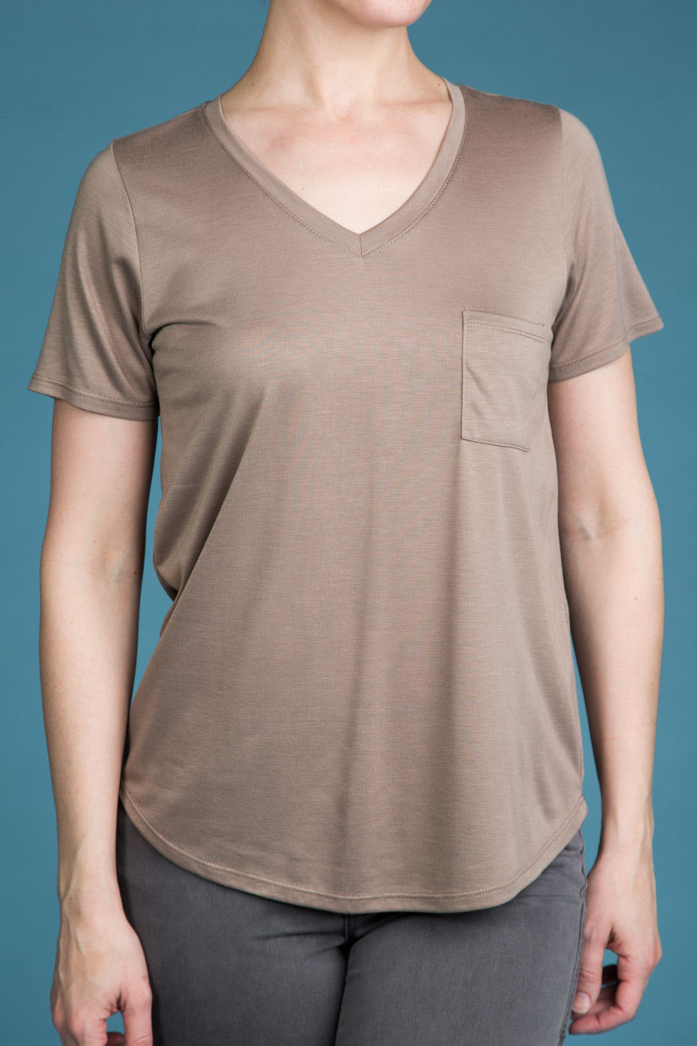 Type 2 Cuddling Taupe Top