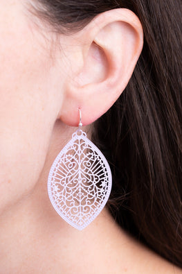Type 2 Lavender Lattice Earrings