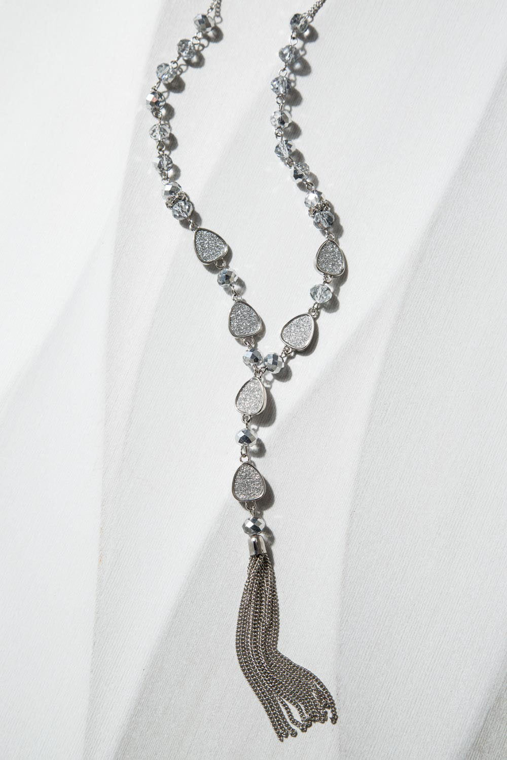 Type 2 Crystal Castle Tassel Necklace