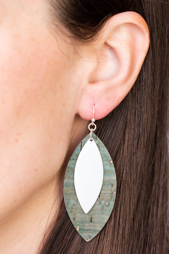 Type 2 Frosted Evergreen Earrings