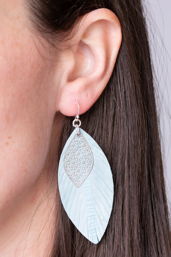 Type 2 Blue Riffle Earrings
