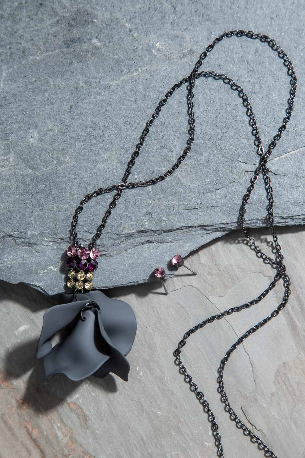 Type 2 Stroke of Midnight Necklace/Earring Set