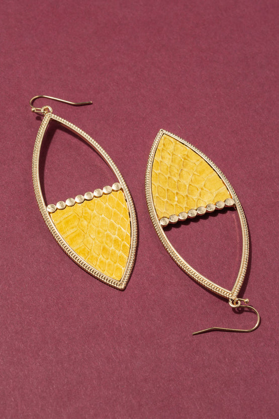 Type 3 Yellow Boa Earrings