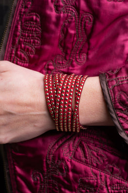 Type 3 Riveting in Red Bracelet