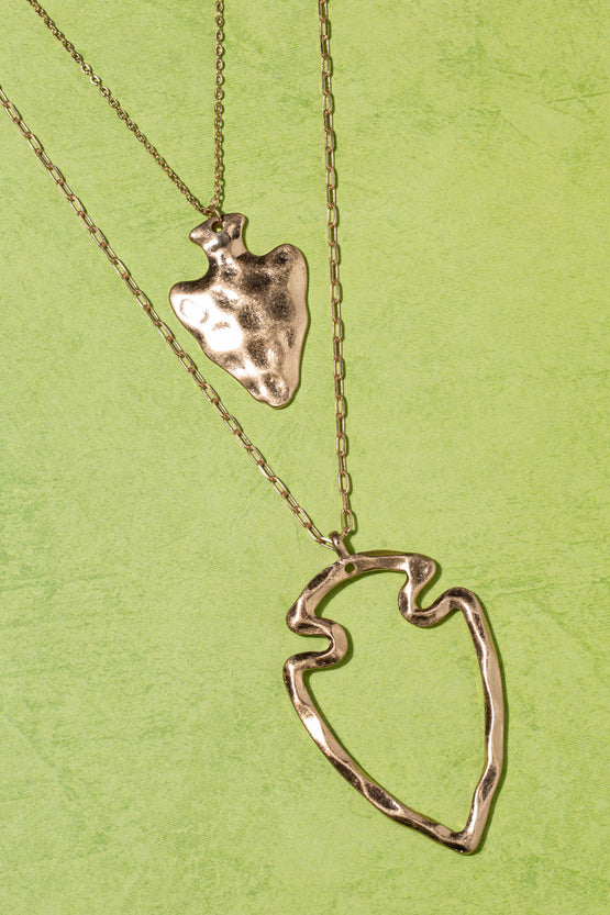 Type 3 Arrow Heart Necklace