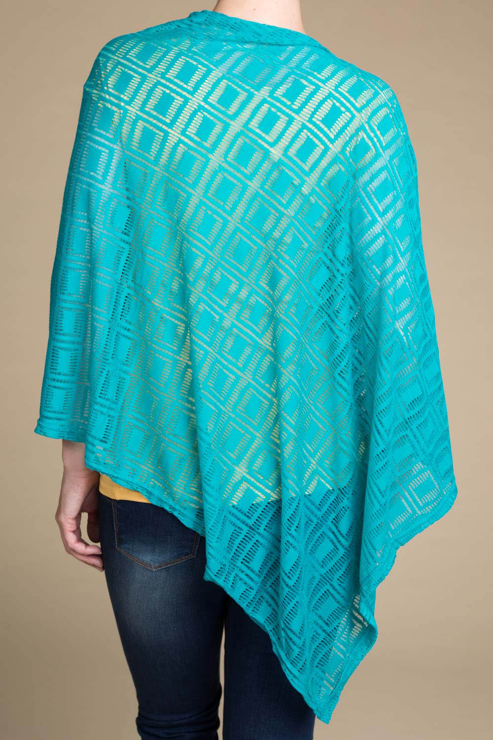 Type 3 Teals The Deal Poncho