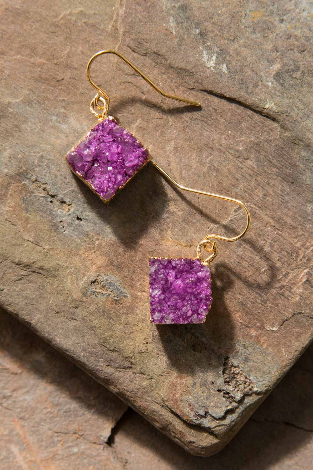Type 3 Magenta Ore Earrings