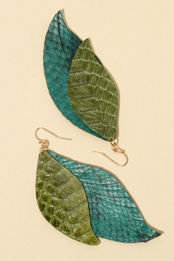 Type 3 Leafy Lizard Earrings