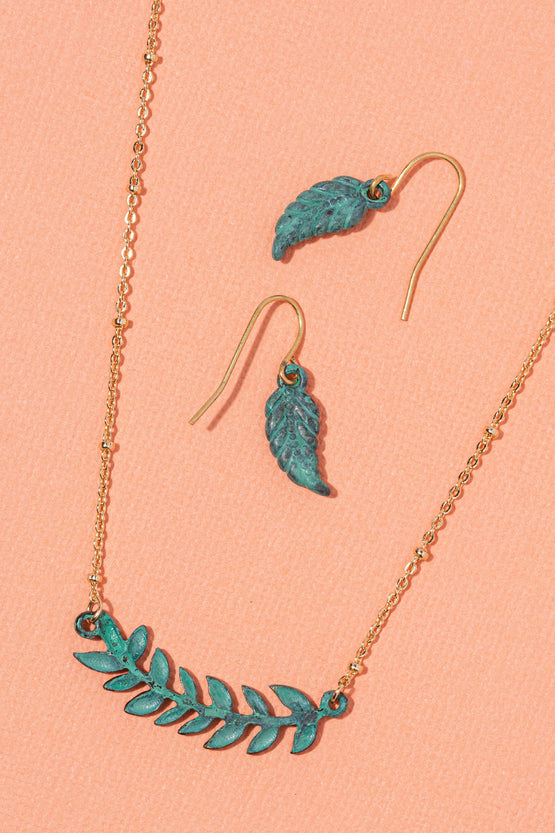 Type 3 Laurel Leaf Necklace/Earring set