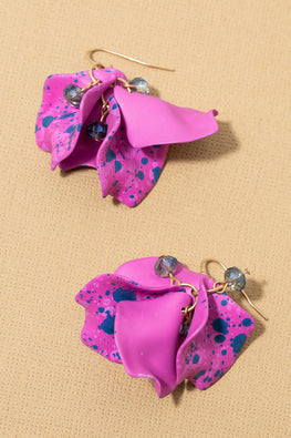 Type 3 Spotted Orchids Earrings