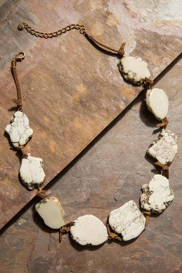 Type 3 Marbled Stone Necklace
