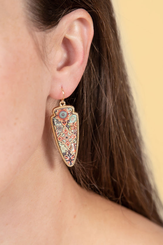 Type 3 Tuscan Tile Earrings