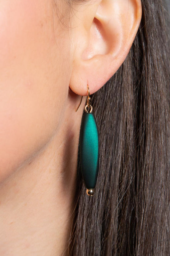 Type 3 Midnight in Emerald City Earrings