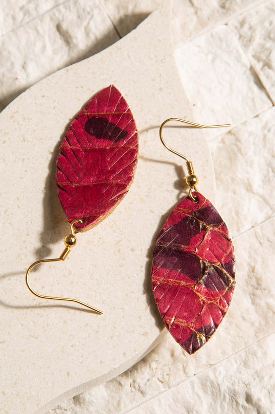 Type 3 Leather and Love Earrings