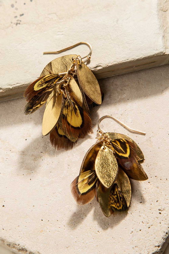 Type 3 Feathered Feature Earrings