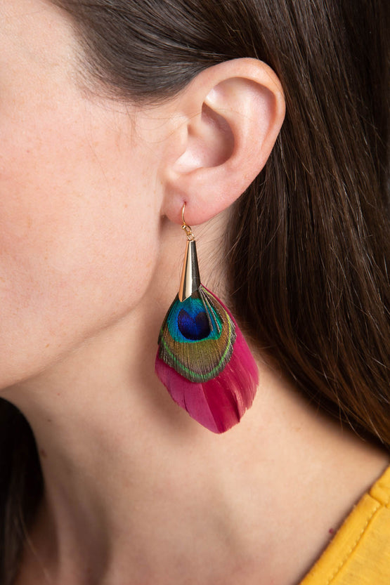 Type 3 Strut Like A Peacock Earrings