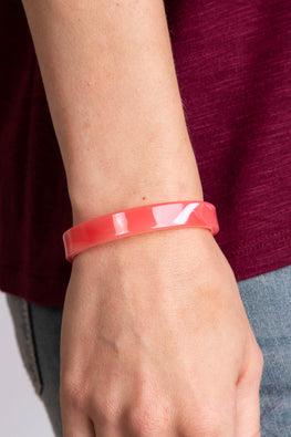 Type 3 Smooth Stack in Coral Bracelet