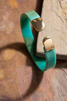 Type 3 Smooth Stack in Turquoise Bracelet