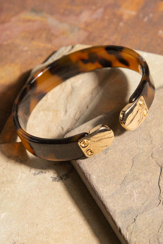 Type 3 Smooth Stack in Tortoise Bracelet