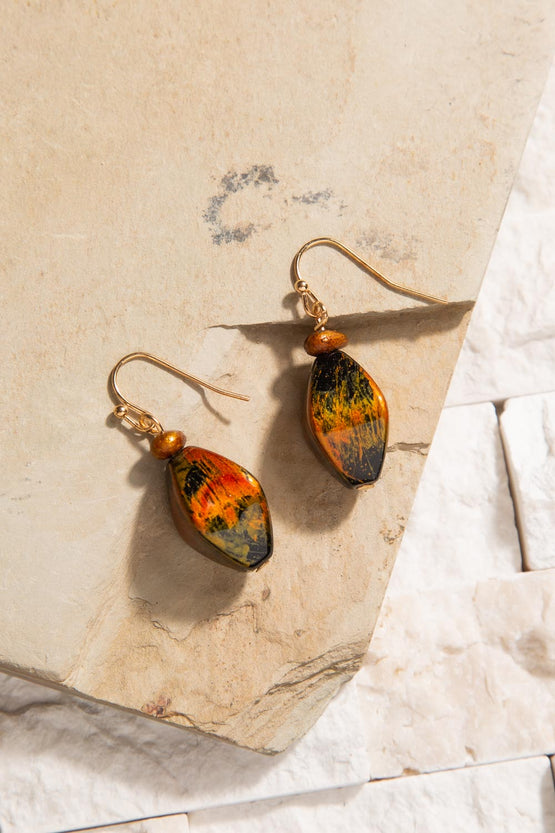 Type 3 Open Fire Earrings